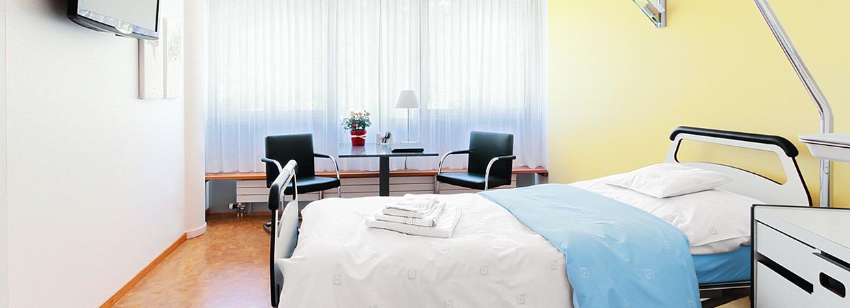 Patientenzimmer Klinik Birshof Basel